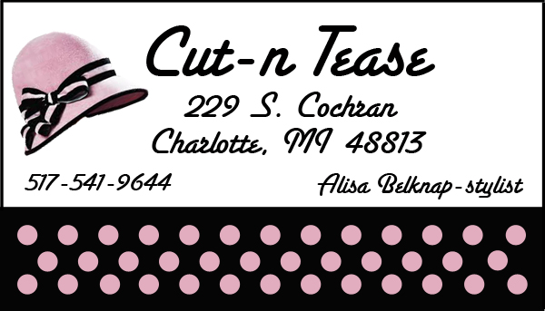 Cut-n-Tease Business Card