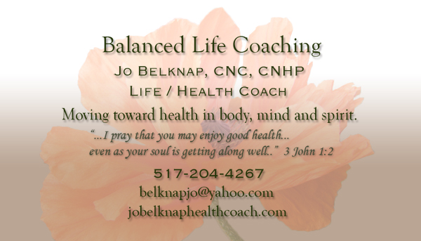 Balanced Life Coaching Business Card