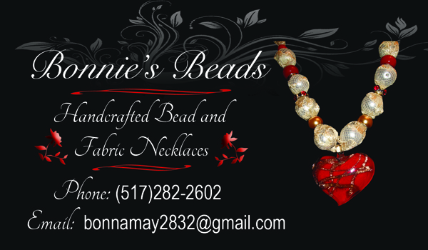 Bonnies Beads Business Card