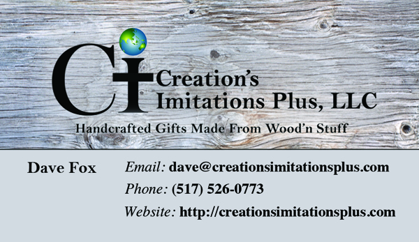 Business Card for Creations Imitations Plus