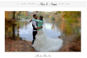 Screenshot of Alex Anna Website