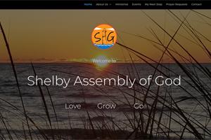 Screenshot of Shelby Assembly of God Website