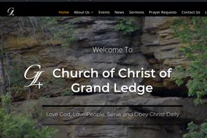Screenshot of Church of Christ of Grand Ledge Website