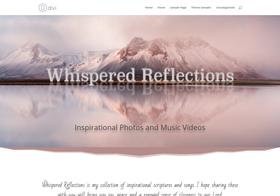 Screenshot of Whispered Reflections Website
