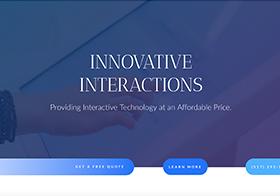 Screenshot of Innovative Interactions website