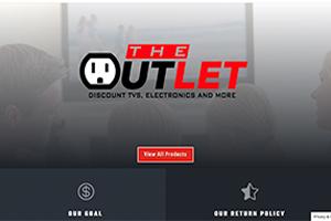 Screenshot of Lansing Outlet Website