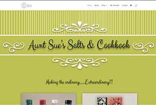 Screenshot of Aunt Sue's Salts Website