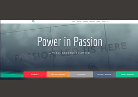Screenshot of Power in Passion Website