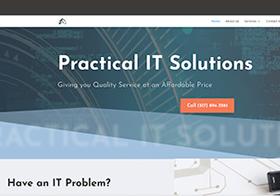 Screenshot of Practical IT Solutions Website