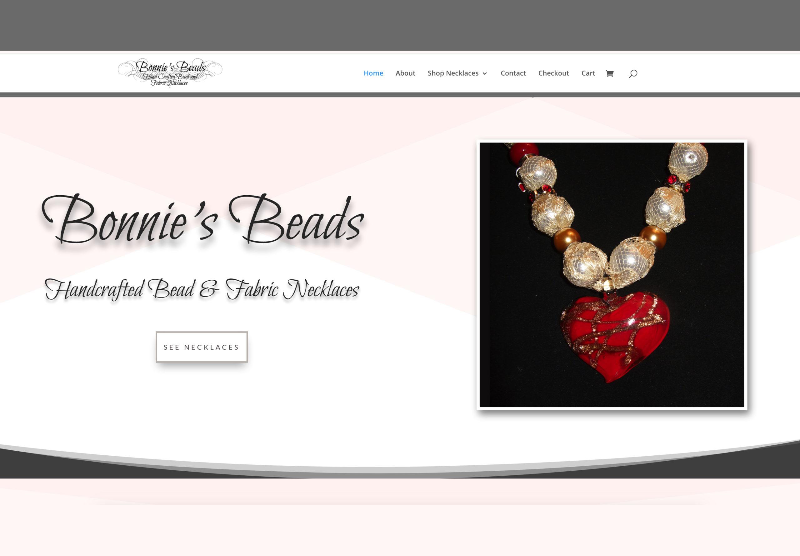 Screenshot of Bonnies Beads Website