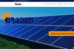 Homepage of Braden Solar & Electric LLC